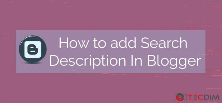How to add Meta tags in blogger to each post and pages.