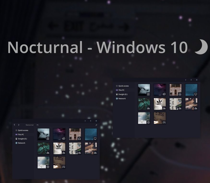 Nocturnal Theme For Windows 10