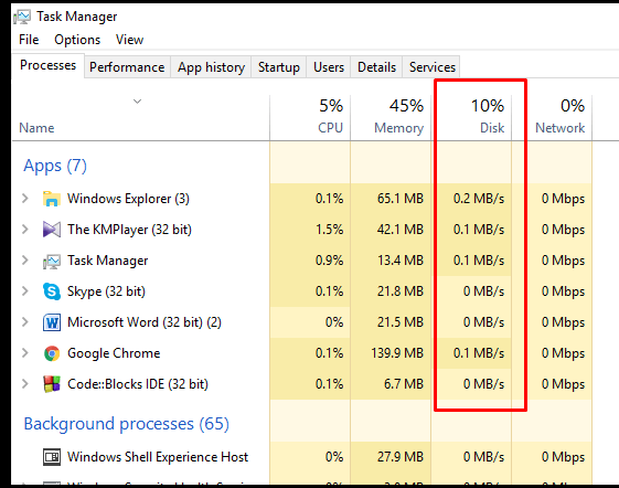 To open the Task Manager