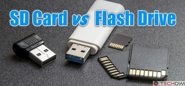 SD CARD vs FLASH DRIVE | Difference Between Them