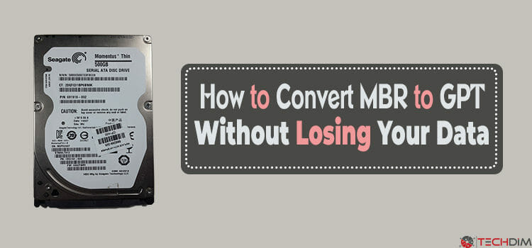 How to Convert MBR to GPT without Losing Your Data