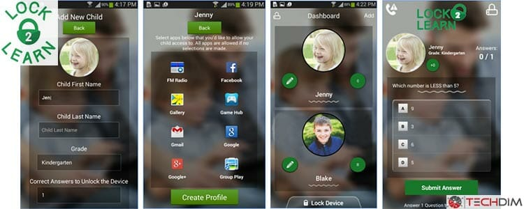 Lock2Learn Parental Control App