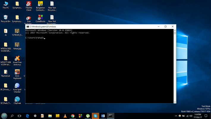 """Run the """"command prompt"""