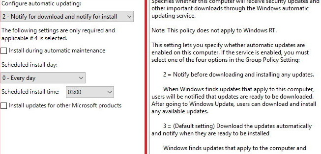 Notify for download and notify for install