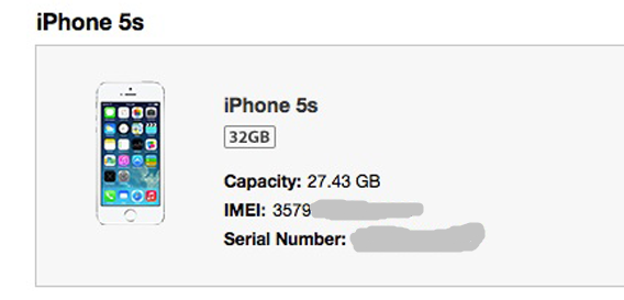 iPhone IMEI Number