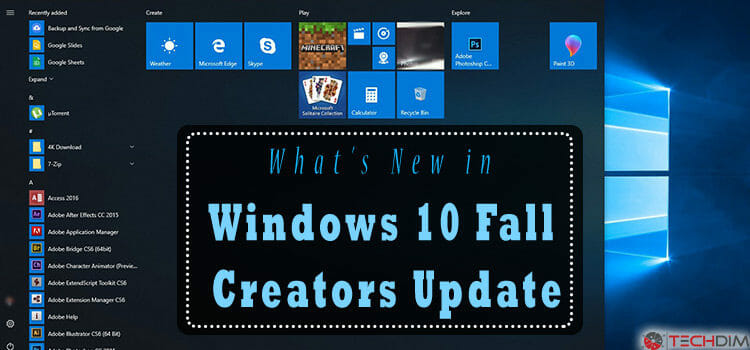 What's New in Windows 10 Fall Creators Update