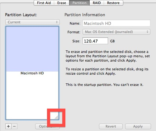 Change Partition Size in Mac