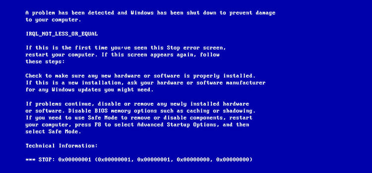 What is Blue Screen of Death 1