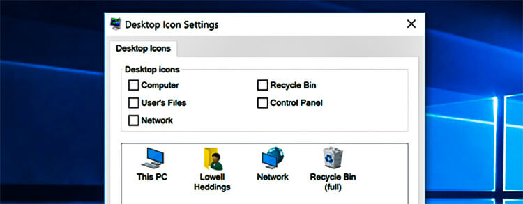 How to Delete the Recycle Bin ICON in Windows 10