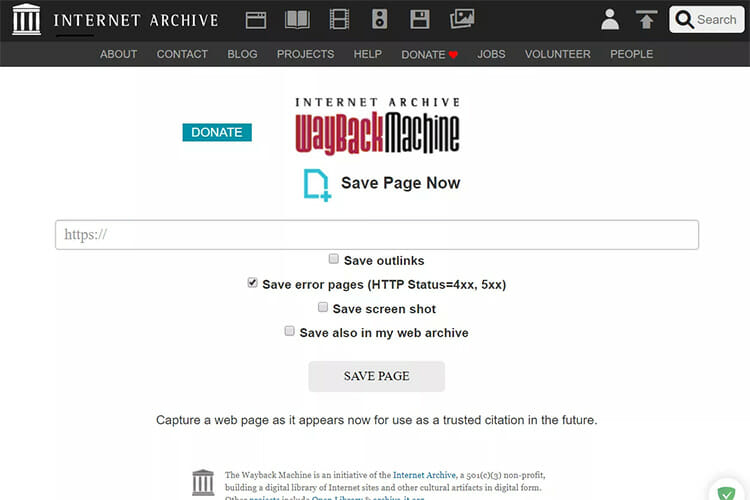 How to Archive/Save/Capture Webpages on the Wayback Machine 2