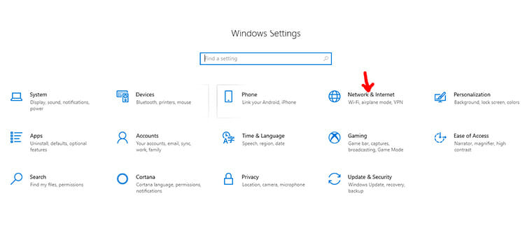 Connection with VPN in Windows 10 1