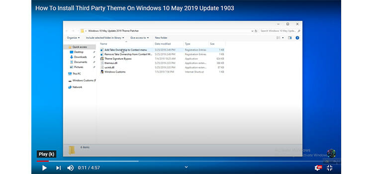 Installation of Third-party Patching Software on Windows 10 3
