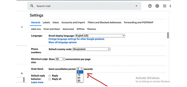 How to Unsend an Email in Gmail 3