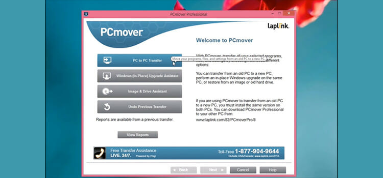 Use Pcmover for the Newer Version of Windows 2