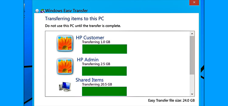 Windows Easy Transfer for Old Windows PC