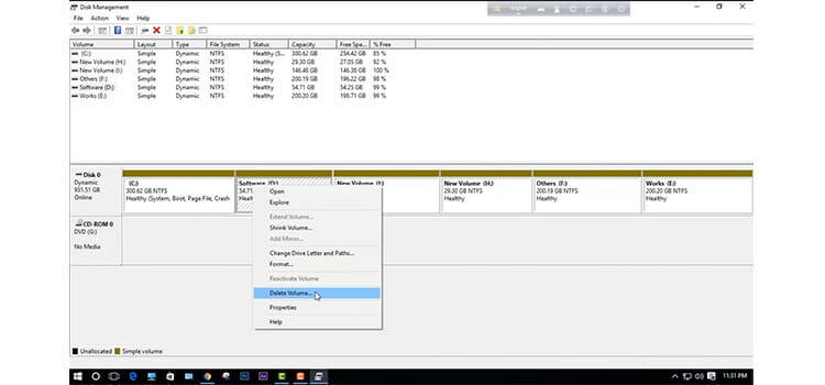 Converting the Unallocated Space to Free Space 7