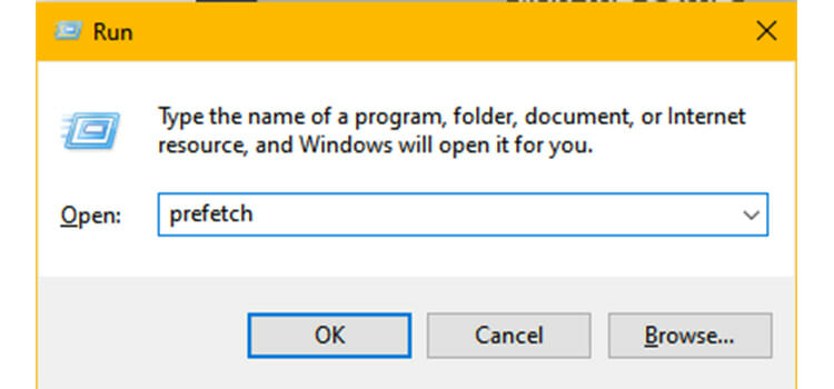 Removing the Temporary Files and Prefetch Files