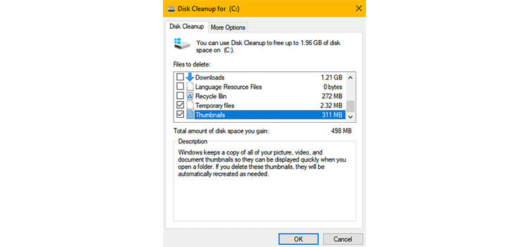 Using Disk Cleanup 2
