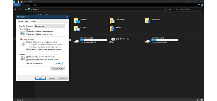 Clear File Explorer History 2