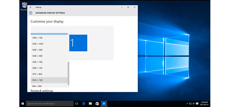 How to Change Screen Resolution on Windows 10 3