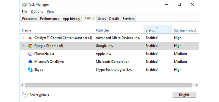 How to Disable Startup Programs in Windows 10 2