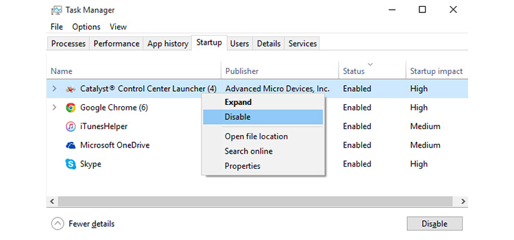 How to Disable Startup Programs in Windows 10 3