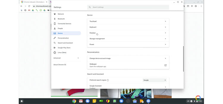 How to check screen resolution on Chromebook b