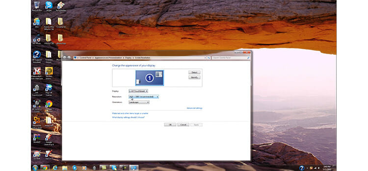How to check screen resolution on Windows 7 2