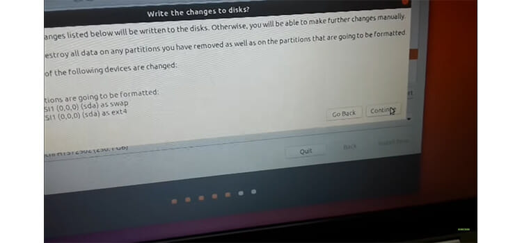 Installing Ubuntu from the Bootable USB drive 12