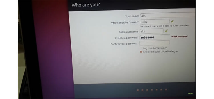 Installing Ubuntu from the Bootable USB drive 14a