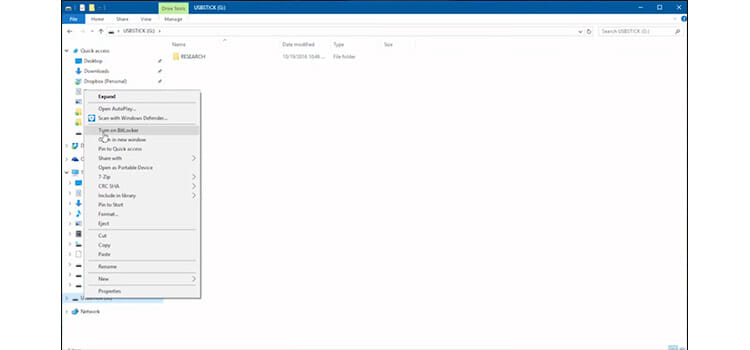 Password Protecting a Flash Drive Using BitLocker to go 2