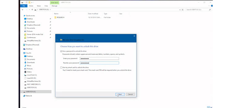Password Protecting a Flash Drive Using BitLocker to go 3