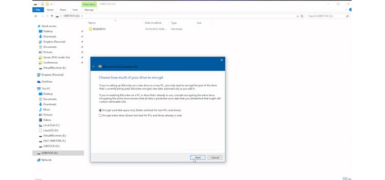 Password Protecting a Flash Drive Using BitLocker to go 5