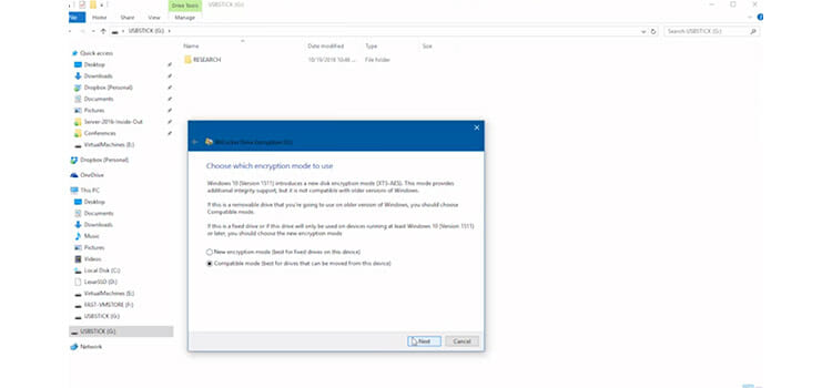 Password Protecting a Flash Drive Using BitLocker to go 6