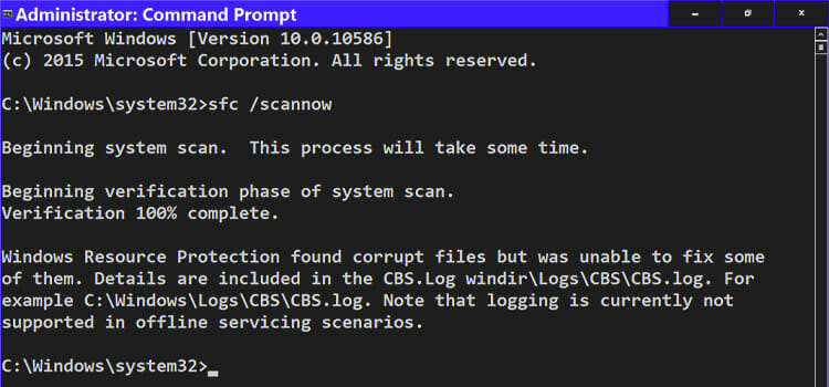 Windows resources protection found corrupt files
