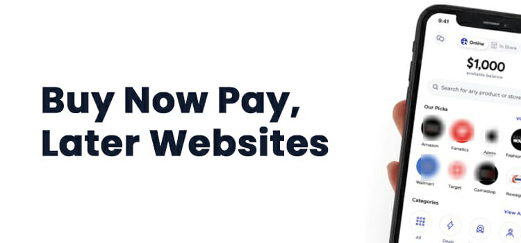 Top 5 Buy Now Pay Later Websites