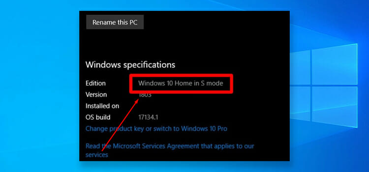 What is Windows 10s Mode