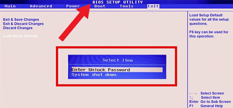 How to Remove BIOS Password Windows 10