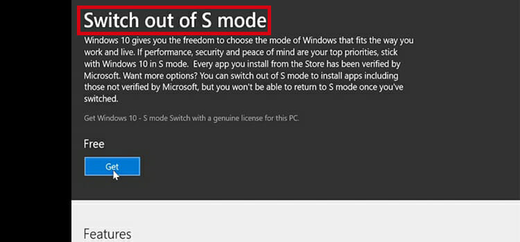How to Get out of S Mode in Windows 10