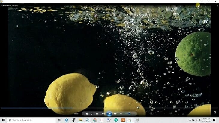 Open the video with Windows Media Player.
